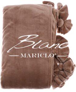 Plaid rosa antico Blanc Mariclo Flower Pom Poms Colletion