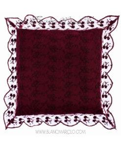 Cuscino con gale 45 x 45 cm Burgundy
