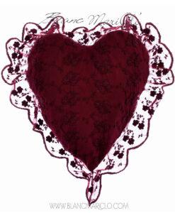 Cuscino cuore 35 x 35 cm Burgundy