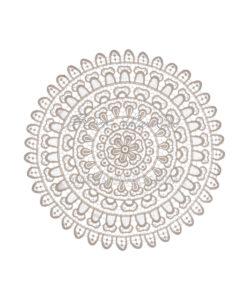 Tovaglietta pizzo tonda 38 cm Naturale Blanc Mariclò Reggio Emilia
