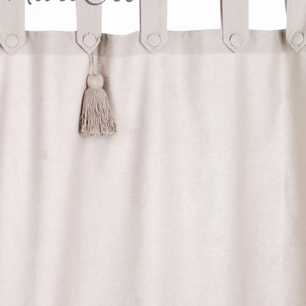 Tenda 150x300 cm + loops e embrasse Dust - Blanc MariClo\' Reggio Emilia