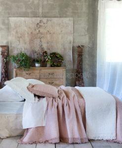 Boutis matrimoniale 260 x 260 cm Bianco Josephine