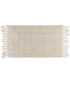 Tappeto Blanc Mariclo con frange 50x100 cm