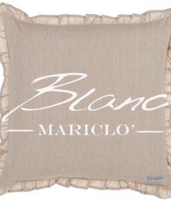 Cuscino Blanc Mariclo Infinity Beige con galettina cm 45x45