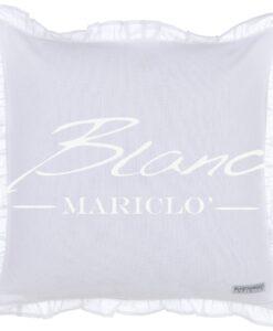 Cuscino Blanc Mariclo Infinity Bianco con galettina cm 45x45