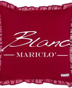 Cuscino Blanc Mariclo Infinity Bordeaux con galettina cm 45x45