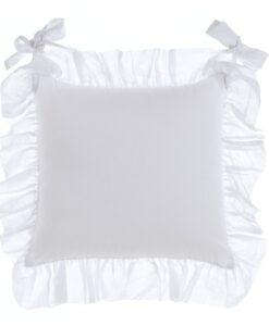 Cuscino sedia Blanc Mariclo con galette Fru Fru Collection 45x45 cm