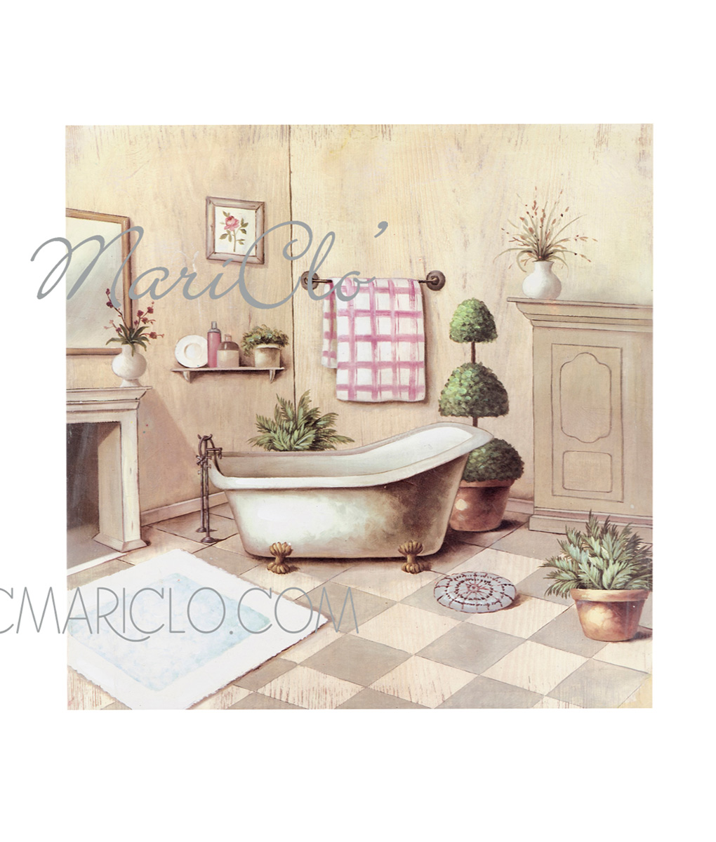 Accessori Bagno Quadro : Quadro bagno con vasca blanc mariclo