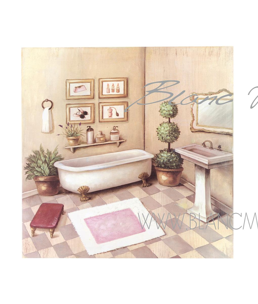 Quadro bagno con vasca cm 50x50x3 blanc mariclo 39 reggio - Bagno con vasca ...
