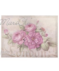 Quadro con rose cm 40x30x3