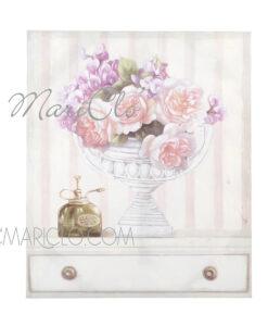 Quadro vaso con fiori cm 50x60x3