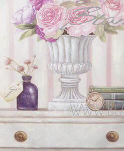 Quadro vaso con rose cm 50x60x3