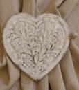 Ferma tenda cuore legno