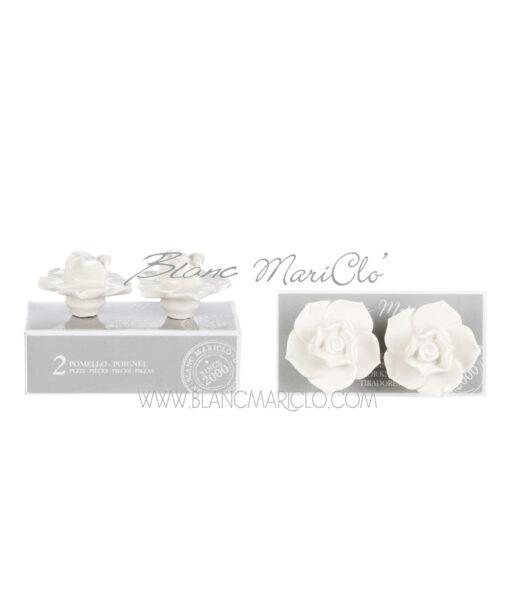 Set 2 pomelli crema Rosa Un sogno nel cassetto Collection