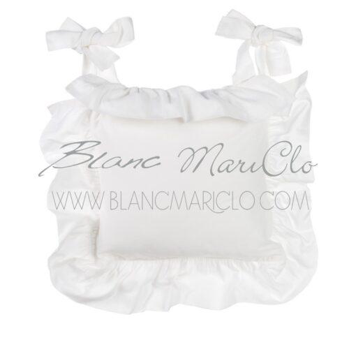 Copricuscino sedia con galetta Infinity Bianco Blanc Mariclò