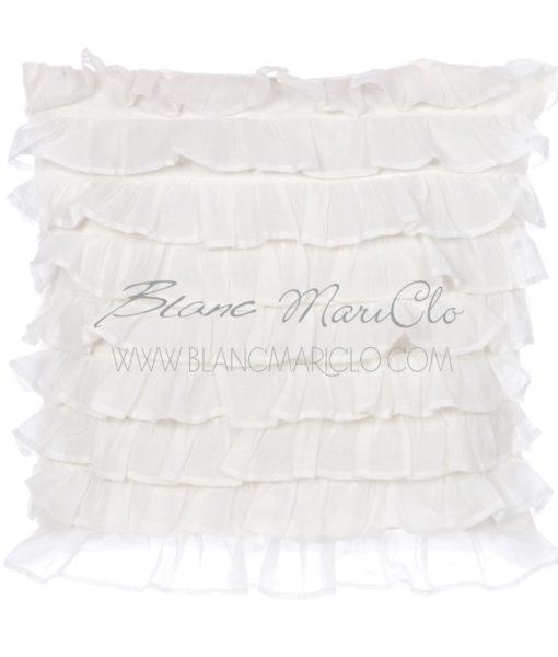 Cuscino bianco fru fru Collection