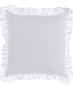 Cuscino Blanc Mariclo con galette Fru Fru Collection 45x45 cm