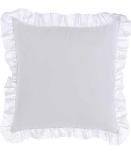 Cuscino Blanc Mariclo con galette Fru Fru Collection 45×45 cm A27073