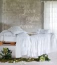 Cuscino 45×45 cm bianco fru fru Collection