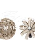 fermatenda fiore iuta e perline blanc mariclo