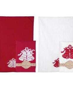 Canovaccio Christmas Collection rosso 50 x 70 cm Blanc Mariclo