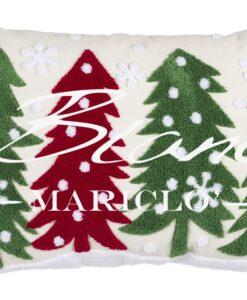 Cuscino ricamo con alberi Blanc Mariclo