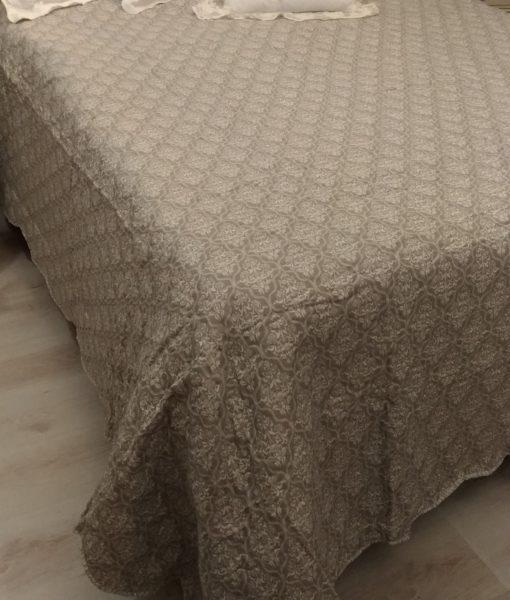 Boutis grigio stampato  Blanc Mariclo