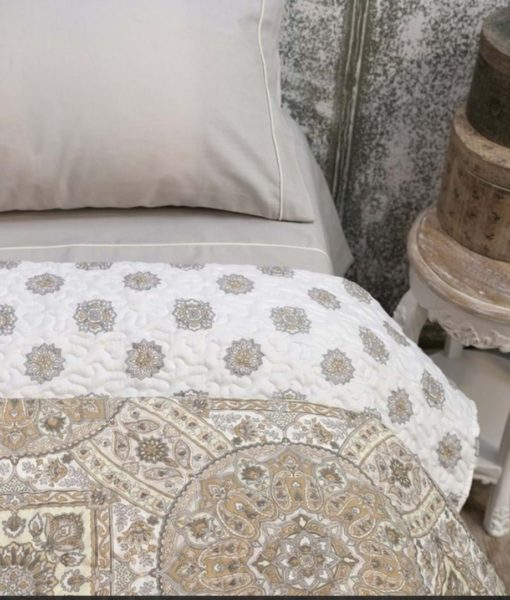 Boutis stampe double face Blanc Mariclo