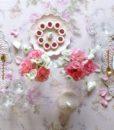 Piatto con coniglietto Blanc Mariclo Paese delle meraviglie Collection