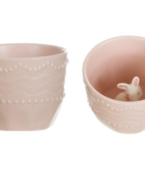 Tazzina con coniglietto Blanc Mariclo Paese delle meraviglie Collection A25067