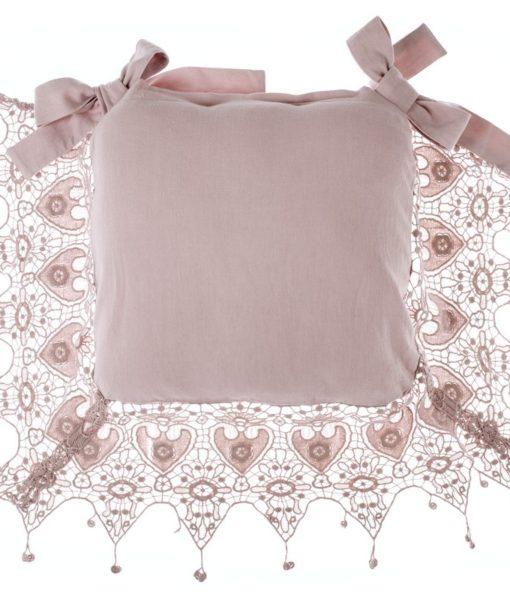 Copricuscino sedia Rosa Antico Blanc Mariclo Tourmalin Collection 45×45 cm A2692399RO