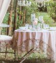 Copritavolo Rosa Antico Blanc Mariclo Tourmalin Collection