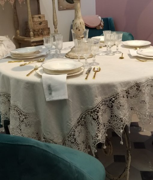 Copritavolo bianco Tourmaline Blanc Mariclo _1