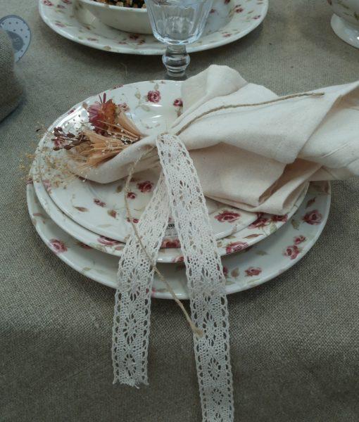 Servizio piatti Floret Full Blanc Mariclo