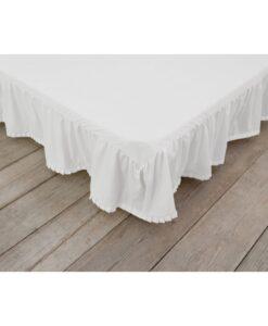 Vestiletto bianco matrimoniale 185x200 cm Plissè Collection Blanc Mariclo