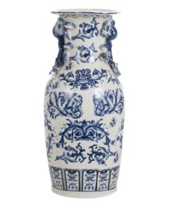 Vaso Blanc Mariclo Chinoiserie collection blu L 17 x P 17 x H 36