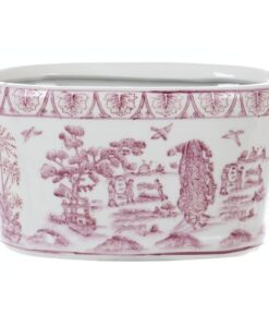 Vaso Blanc Mariclo Chinoiserie collection Rosa L 27,5 x P 16,5 x H 12,5