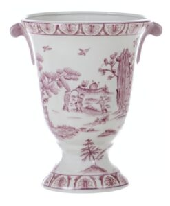 Vaso Blanc Mariclo Chinoiserie collection blu L 17 x P 17 x H 36 Vaso Blanc Mariclo Chinoiserie collection Rosa L 19 x P 19 x H 24,5