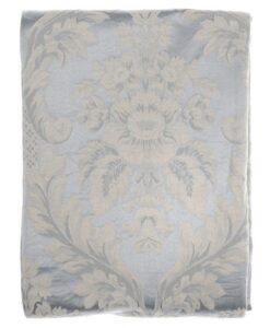 Copriletto Blanc Mariclo Damasco Collection Azzurro 260x260 cm