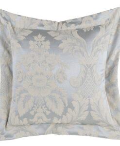 Cuscino Blanc Mariclo Floreal Damasco Collection Azzurro 40x40 cm