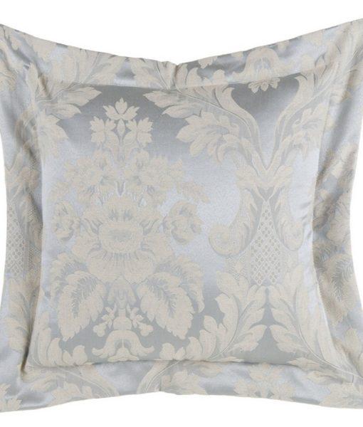 Cuscino Blanc Mariclo Floreal Damasco Collection Azzurro 40×40 cm A25513
