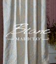 Tenda Blanc Mariclo Floreal Damasco Collection Naturale 135×290 cm