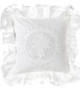 Cuscino Blanc Mariclo con gale White Cloud Collection 40x40 cm