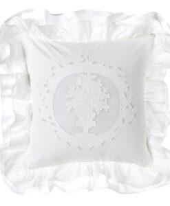 Cuscino Blanc Mariclo con gale White Cloud Collection 40x40 cm