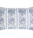 Cuscino Blanc Mariclo con frill Denim Collection 40x60 cm
