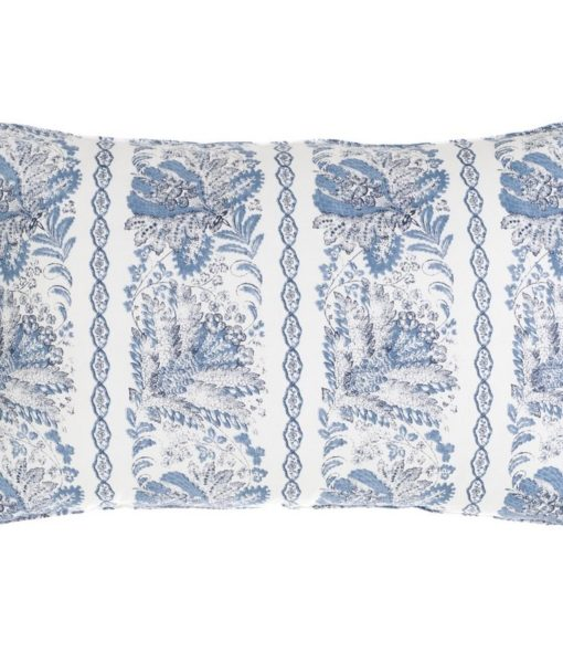 Cuscino Blanc Mariclo con frill Denim Collection 40×60 cm A27102