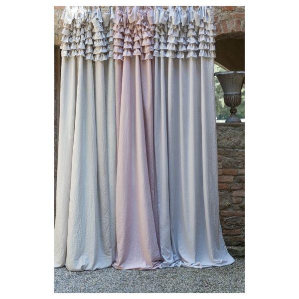 Tenda Blanc Mariclo Rosa polvere con gale Eterna Collection 150×290 cm