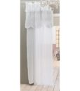 Tenda con mantovana Blanc Mariclo Clarissa Collection 140x 290 Bianco