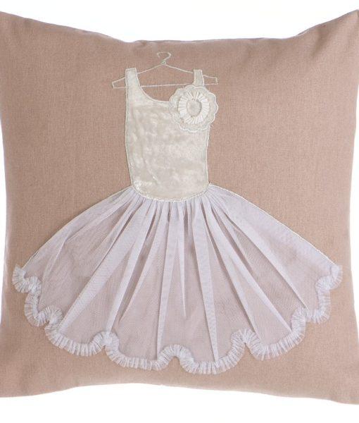 Cuscino Blanc Mariclo ricamo tutù Romantic Ballet 35×35 A28007