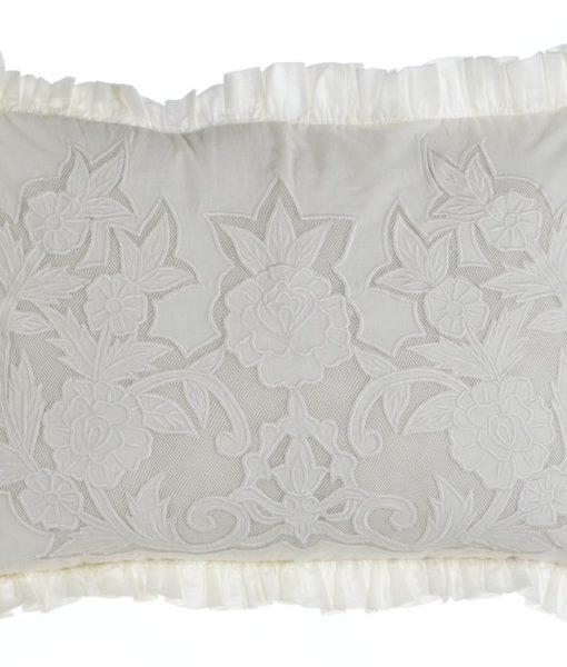 cuscino ricamato buttercup blanc maricloA28011